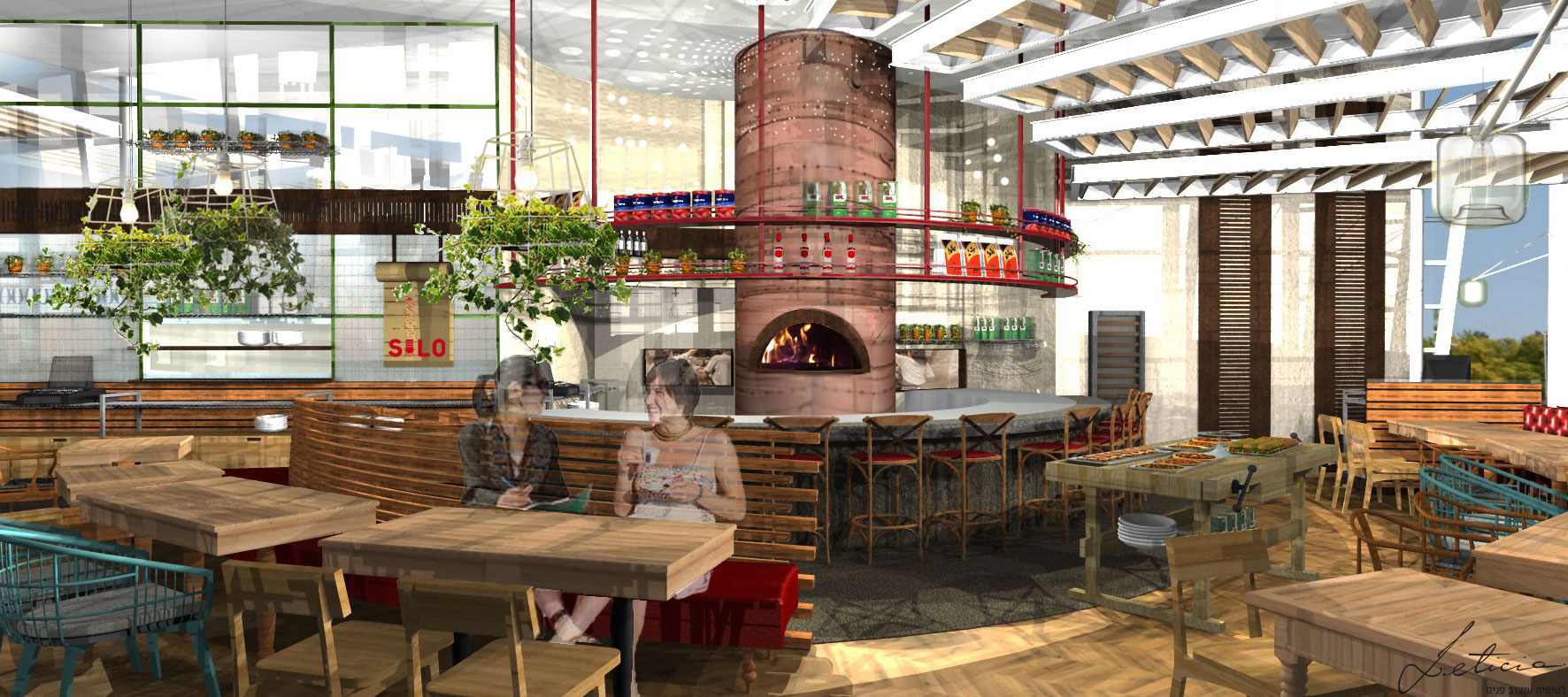 """הדמיית מסעדת סילו בחולון. צילום: יח""""צ"""