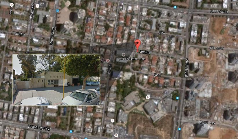 השטח בגולומב 54. צילום: google maps