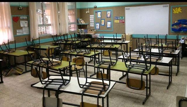 """כיתה ריקה בביה""""ס דינור. צילום: הועד המרכזי של ביה""""ס דינור"""