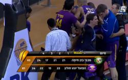 צפו בהפועל חולון מנצחת 85:83 את מכבי חיפה