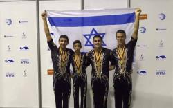מדליית זהב באליפות אירופה לרביעיית הבנים מהיכל הספורט בגין