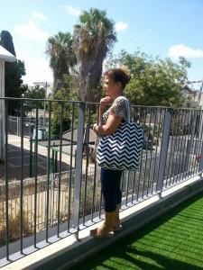 השוואת הגדר בגן צאלון לגובה של אדם מבוגר