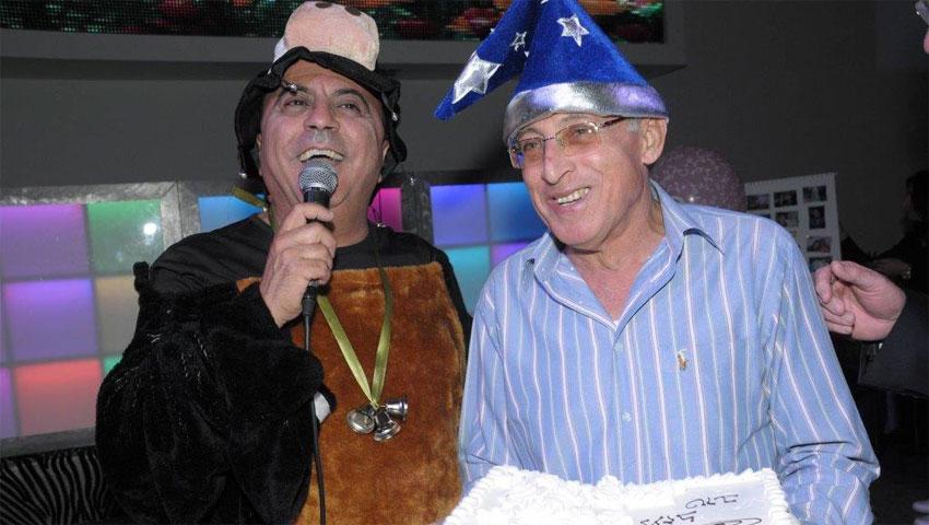 שמשון חן וראש היער מוטי ששון במסיבת תחפושות. צילום: טל קירשנבאום