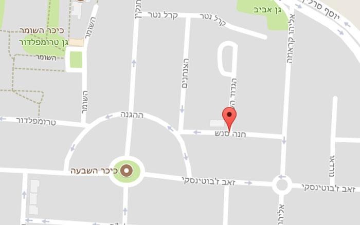 מפת האזור. צילום מסך: גוגל מפות